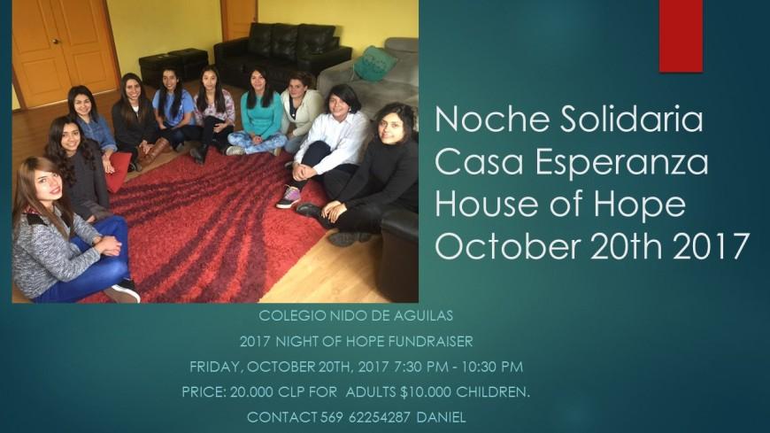 Noche Solidaria AFICHE 2017